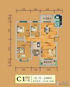 巴黎春天A区3室2厅1卫109平方米户型图