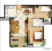 明发摩尔城2室2厅1卫96平方米户型图