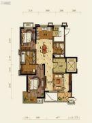 中铁人杰水岸2室2厅2卫115平方米户型图