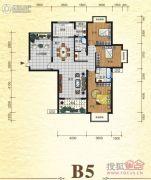 元森北新时代3室2厅2卫152平方米户型图