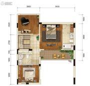 金科御临河3室1厅2卫0平方米户型图