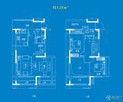 中航樾府4室2厅2卫125平方米户型图