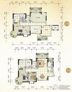 国际新城4室2厅3卫255平方米户型图