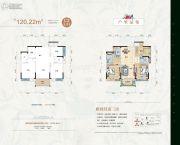 天元华雅花园3室2厅2卫120--128平方米户型图