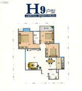 翰林尚品3室2厅2卫108平方米户型图