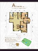 天鹅湖1号3室2厅1卫116平方米户型图