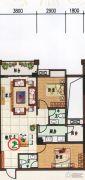 府前雅居苑2室2厅2卫91平方米户型图