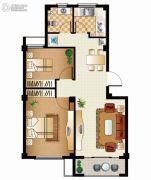 逸城山色2室2厅1卫72平方米户型图