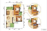 卓信金楠天街3室2厅1卫88平方米户型图