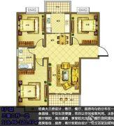 宿迁盛世嘉园3室2厅1卫116--120平方米户型图