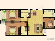 天齐・奥东花园3室2厅2卫117平方米户型图