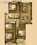 恒威中央领地3室2厅2卫0平方米户型图