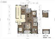 融创涌宁府3室2厅2卫139平方米户型图