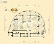 龙湖世纪峰景3室2厅3卫280平方米户型图