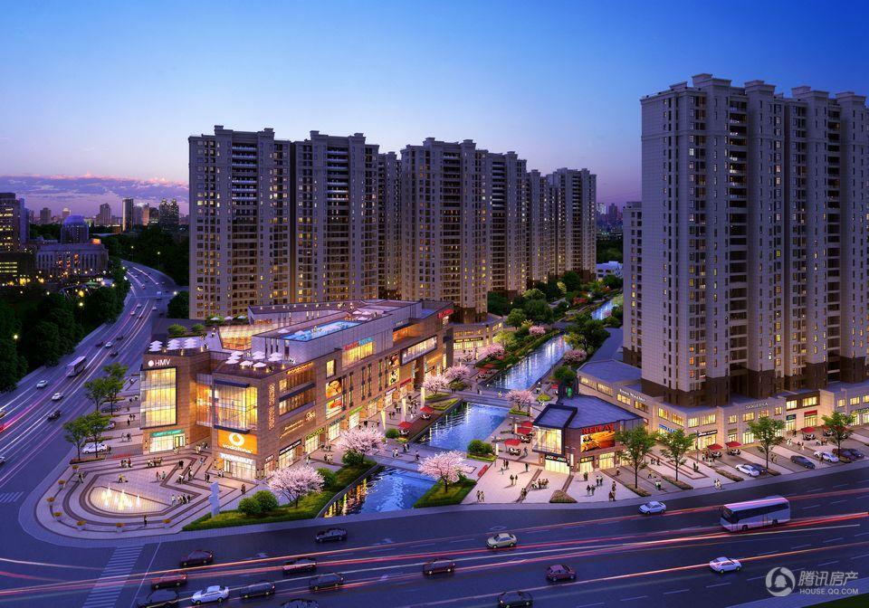 恒威·国际城商业半鸟瞰夜景