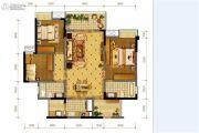 隆鑫十里画卷3室2厅2卫117平方米户型图