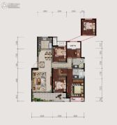 仙居新城吾悦广场4室2厅2卫139平方米户型图