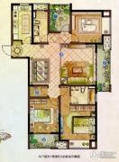 龙湖龙誉城3室2厅2卫143平方米户型图