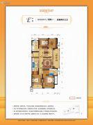 众安朝阳8号3室2厅2卫89平方米户型图