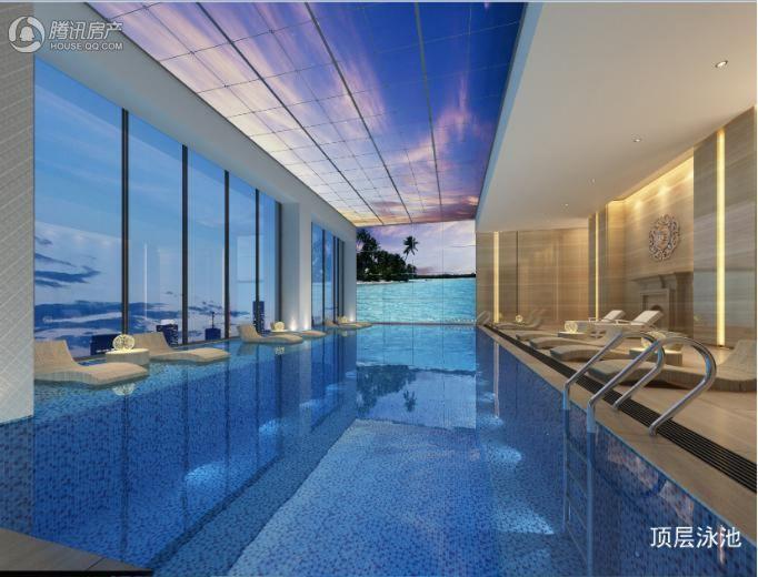 顶层泳池效果图