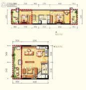 皇家海湾公馆2室2厅2卫86--121平方米户型图
