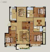 祥生云浦新语4室2厅2卫131平方米户型图