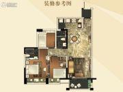 江门奥园广场2室2厅2卫97平方米户型图
