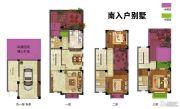 东渡伊顿小镇4室3厅3卫160平方米户型图
