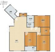 盛世观邸4室1厅2卫117平方米户型图