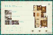 首创悦都3室2厅1卫108平方米户型图