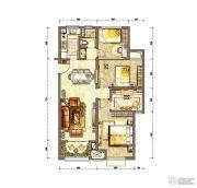 新城香溢紫郡4室2厅1卫100平方米户型图