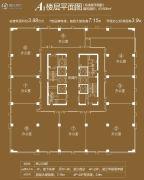 珠江国际商务港1500平方米户型图