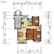 步阳江南甲第3室2厅1卫111平方米户型图