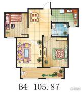 金鼎绿城2室2厅1卫105平方米户型图