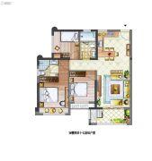 中骏四季花都3室2厅2卫0平方米户型图
