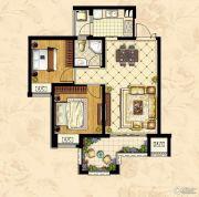 深业华府2室2厅1卫80平方米户型图