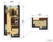 国瑞中心中央公馆0室0厅0卫34平方米户型图