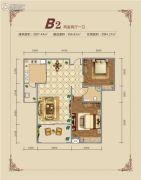 高兴瑞�Z2室2厅1卫87--94平方米户型图