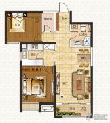 中海蓝湾2室2厅1卫86平方米户型图