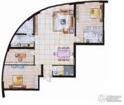 中天盛世观澜3室2厅2卫180平方米户型图