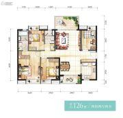 时代香海彼岸4室2厅2卫126平方米户型图