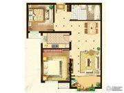 阳光首院2室2厅1卫84平方米户型图