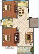 君悦国际花园2室2厅1卫95平方米户型图