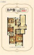 东方嘉园3室2厅2卫88平方米户型图
