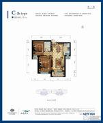 嘉里海楹台2室1厅1卫84平方米户型图
