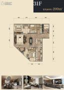 杭州印2室2厅3卫209平方米户型图