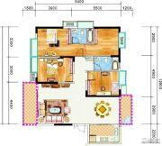 锦绣花园3室2厅2卫141平方米户型图