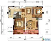 轩华・万华庭2室2厅1卫80平方米户型图