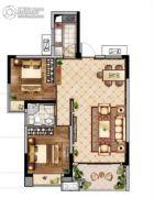 联泰・滨江中心2室2厅1卫96平方米户型图