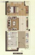 中海联智汇城1室1厅1卫33平方米户型图